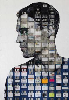 Recuperando el floppy disk. El arte de Nick Gentry | OLDSKULL.NET