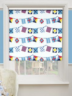 Baby Bunting Boisterous Blue Blackout Roller Blind from Blinds 2go