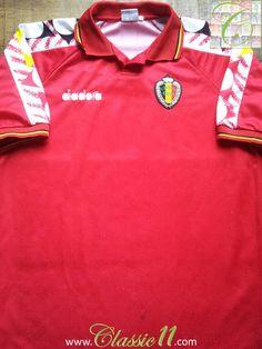 Relive Belgium s international season with this vintage Diadora home  football shirt. Classic11 Football Shirts 4413fabad