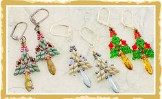 How To Use Super Duo Beads for Christmas Earrings
