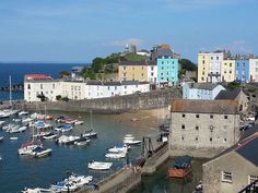 Tenby harbour on a tranquil evening in June 2014