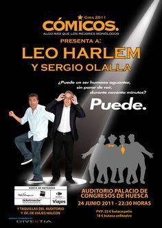 Cartel de Leo Harlem y Sergio Olalla de la gira 2011