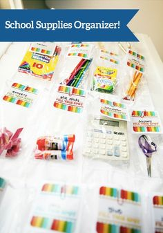 Put together a DIY School Supplies Organizer that can be hidden behind a pantry or bedroom door. It can hold just about anything and everything your kids could need to complete their homework!