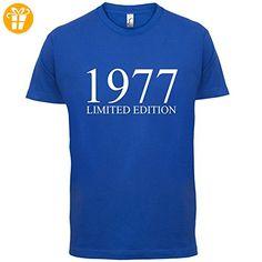 1977 Limierte Auflage / Limited Edition - 40. Geburtstag - Herren T-Shirt - Royalblau - L (*Partner-Link)
