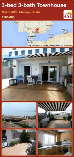 3-bed 3-bath Townhouse in Mezquitilla, Malaga, Spain ►€185,000 #PropertyForSaleInSpain