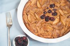 Apple, Pear, Blackberry Flaugnarde #glutenfree #grainfree #paleo