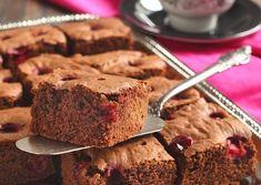 brownie met witte chocolade en cranberries