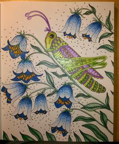 WIP #Sommarnatt #adultcoloringbook #HannaKarlzon
