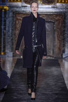 Anthony Vaccarello Fall 2013' Dropped waist coat. Looks good but hard to wear and a fussy mare.