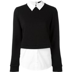 Steffen Schraut classic collar jumper (1524875 PYG) ❤ liked on Polyvore featuring tops, sweaters, black, jumper top, collar top, jumpers sweaters, steffen schraut and collared sweater