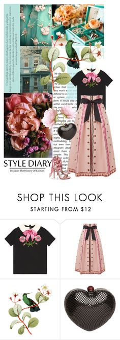 """A little girly."" by clothesmonkey ❤ liked on Polyvore featuring Council, WALL, Gucci, Temperley London, Mimco and Boohoo"