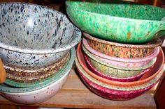 Texas Ware, Dallas Ware bowls. My collection is no where near this cool. I LOVE THEM!