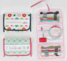 Stitch Lovely Things Organizer Bag Pattern by Bonnie Olaveson of Cotton Way