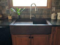 Copper Kitchen Sink with Cutting Board | Copper Sinks Online