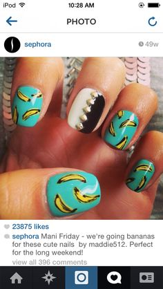 @sephora on Instagram Awesome and fun banana nails