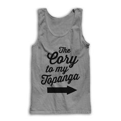 Hey, I found this really awesome Etsy listing at https://www.etsy.com/listing/209987493/the-cory-to-my-topanga