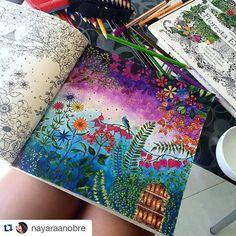 #Repost @nayaraanobre with @repostapp ・・・  ... Livro: Jardim Secreto  ... Apareça aqui também  Marque-nos nas fotos ou use a #florestaencantadainsta  #florestaencantadainsta #florestaencantada #jardimsecreto #secretgarden #esrarengizbahce #enchantedforest #reinoanimal #animalkingdom #johannabasford