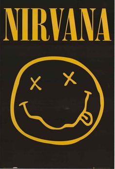 Nirvana Smiley Face Poster 24x36 – BananaRoad