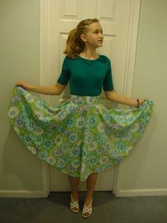 DIY Sheet to Skirt. Sooo not liking the pattern. I'd make this skirt with a plain satin sheet