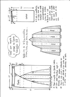 Выкройка оригинальной юбки, размеры с 36 до 50
