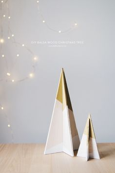 DIY | balsa wood christmas tree |