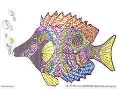 kostenlos zum selber machen: anti-stress unterwasserwelt malbuch für erwachsene: fische