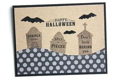 Graveyard Halloween Card by Heather Nichols for Papertrey Ink (August 2015)