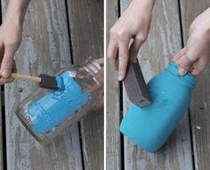 diy mason jar painted vase