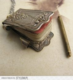 Victorian Notepad / Dance Card Necklace at  Stylowi.pl (Polish Language Website) - No longer available at EricaWeiner.com