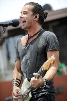 Gavin Rossdale and Bush played during the Sunset Music Festival in ...