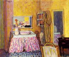 ◇ Artful Interiors ◇ paintings of beautiful rooms - Pierre Bonnard | The Dressing Room, 1892
