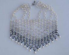 Delicate pearl net necklace N1346 by Fleur-de-Irk