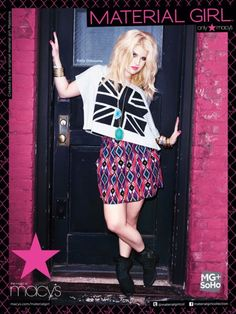 kelly osbourne style | Kelly Osbourne for Material Girl Winter 2011 Campaign | Fashion Fame