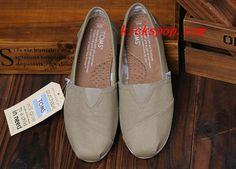 Toms Classic Mens Shoes Khaki Canvas