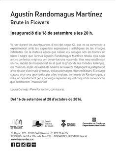 Agustín Randomagus. Artista. Brute in Flowers. Sala Central.