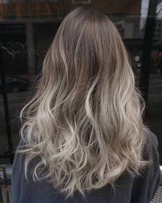 ash brown ombre for dark brown hair