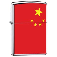 Zippo 'Flag of China' High Polish Chrome Lighter, 7967 * A special product just for you. See it now! : Safety and Survival