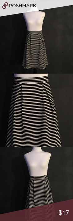 Black and White flare skirt Black and white striped skirt. NWT Skirts A-Line or Full