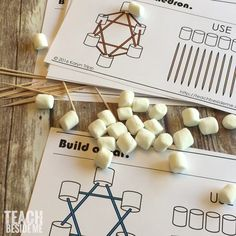 shapes out of marshmallows and toothpicks! Great hands-on math lesson for kids!Build shapes out of marshmallows and toothpicks! Great hands-on math lesson for kids! 2nd Grade Activities, Stem Activities, Geometry Activities, Montessori Math, Homeschool Math, Teaching Geometry, Teaching Math, Hands On Learning Kindergarten, Geometry Lessons