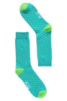 Rock My Socks | Teal with Lime Crosses | Mens Socks Online – Rock My Socks UK