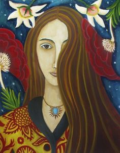 The Coy Miss Gardner new painting, painting by artist Catherine Nolin
