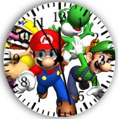 "New Super Mario Wall Clock 10"" Room Decor A19 Fast Shipping 
