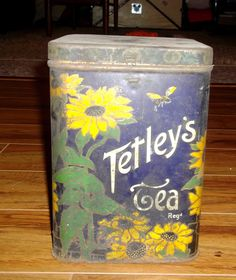 Vintage Tetley's Tea Tin by Borealman on Etsy, $35.00