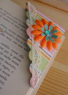 Corner bookmarks #bookmark #scrapbooking