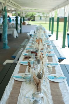 A Beach Themed Table Setting | Beach, Wedding and Inspiration