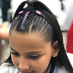 Save by Hermie Cute Little Girl Hairstyles, Trendy Hairstyles, Bob Hairstyles, Braided Hairstyles, Pastel Hair, Purple Hair, Braid Styles For Girls, Curly Hair Styles, Natural Hair Styles