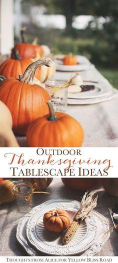 Thanksgiving Tablescape Ideas | YellowBlissRoad.com