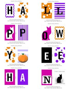 HAPPY Halloween Banner.   Print or download from site.