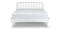 Culla Spindle White Queen Bed