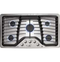 """GE Profile™ Series 36"""" Built-In Gas Cooktop 
